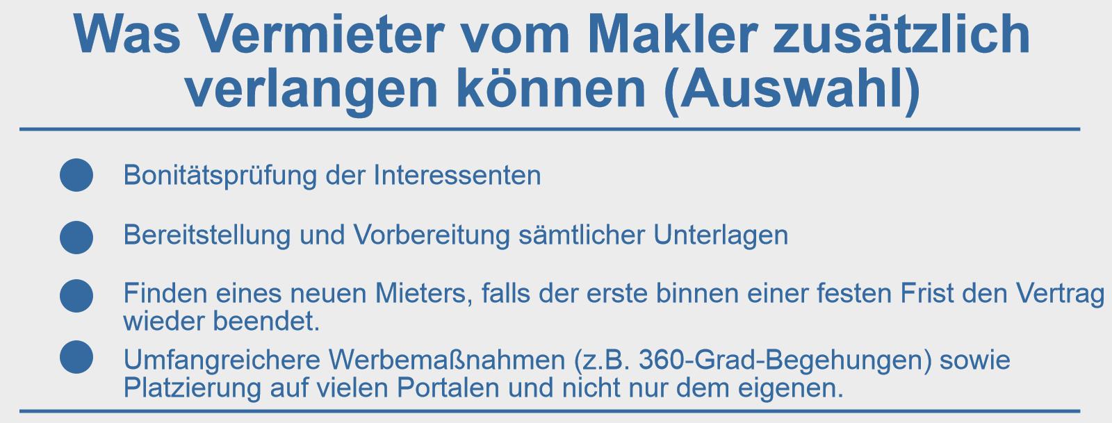 Vermieten, Makler