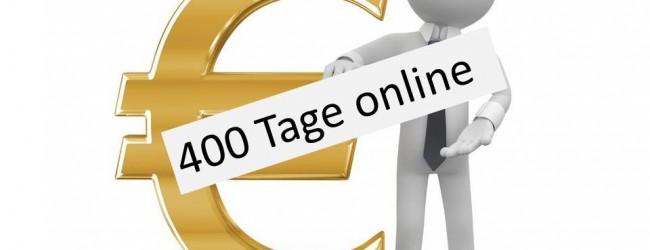 400 Tage online – Herzlichen Dank an unsere Leser!