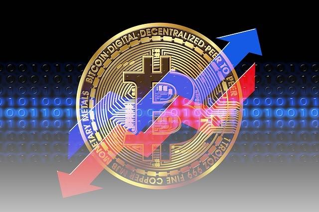 Bitcoin auf und ab