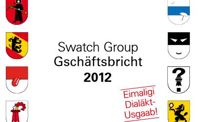 Swatch-Geschäftsbericht auf Schweizerdeutsch