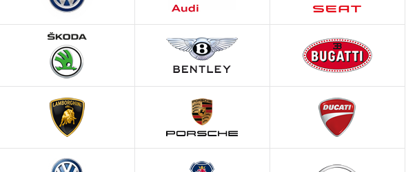 Which brands belong to the VW group?