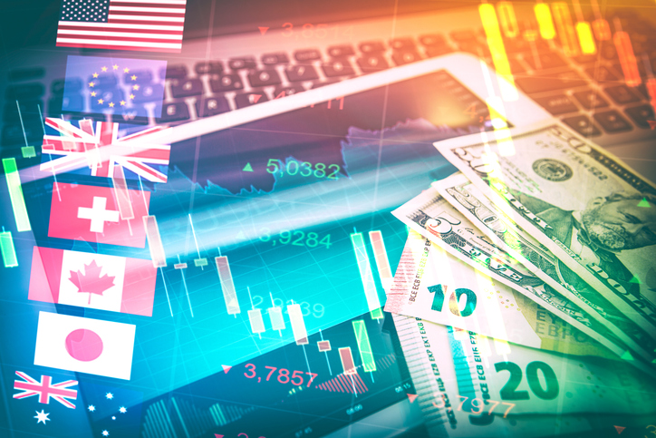 Candlestick Financial Analysis Trading Chart