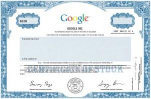Ein Bild der Google Aktie