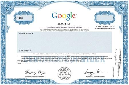 Google Aktien