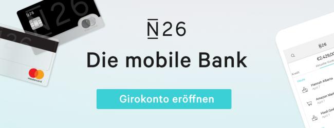Anzeige: N26 ist eine mobile Bank fürs Smartphone